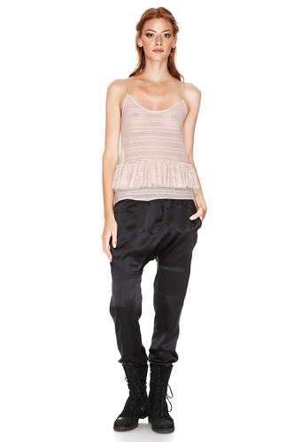 Black Silk Track Pants - PNK Casual