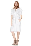 White Cotton Poplin Midi Dress