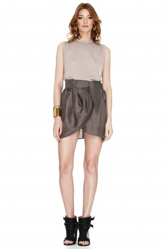 Brown Wrap Skirt - PNK Casual