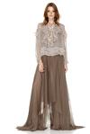 Light Brown Silk Maxi Dress